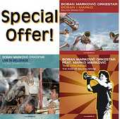 Boban Markovic Orkestar - 3CDs: 'Live in Belgrade' + 'Boban i Marko' + 'The Promise'